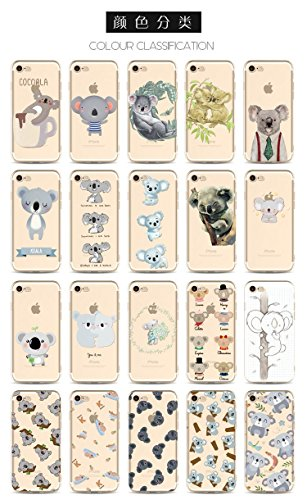 Coque iPhone 7 Plus Housse étui-Case Transparent Liquid Crystal en TPU Silicone Clair,Protection Ultra Mince Premium,Coque Prime pour iPhone 7 Plus-Koala-style 6 17
