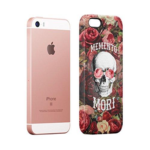 Queen Skull Madness Vintage Floreale Roses Marmo Grigio Custodia Posteriore Sottile In Plastica Rigida Cover Per iPhone 7 & iPhone 8 Slim Fit Hard Case Cover Memento Mori