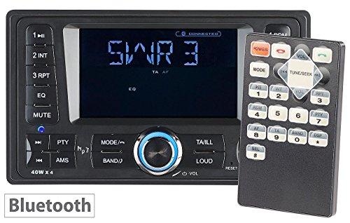 Creasono 2 DIN Autoradios: 2-DIN-MP3-Autoradio CAS-4380.bt mit RDS, Bluetooth, USB & SD, 4x 45 W (Doppel DIN Autoradio)