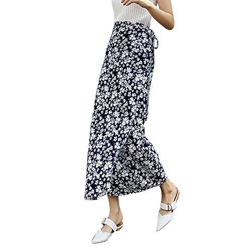 EFINNY Womens Boho Floral Tie up Waist Summer Beach Wrap Cover up Maxi Skirt