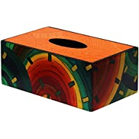 Risparmiare sulle SouvNear 25,4cm Tessuto a mano arancione per fazzoletti rettangolare in legno dipinto a mano colore arcobaleno carta velina Dispenser–Porta Kleenex per cucina e la sala da pranzo