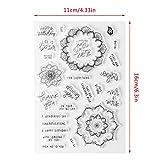 ECMQS Floral Wishes DIY Transparente Briefmarke, Silikon Stempel Set, Clear Stamps, Schneiden Schablonen, Bastelei Scrapbooking-Werkzeug
