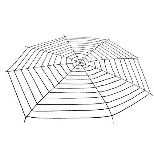 Super großes schwarzes Spinnennetz für Halloween-Dekoration, 5 Meter x 5 (Spinnennetz Großes Dekoration)