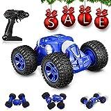 GBlife RC Auto, Fernbedienung 4WD 2,4 GHz Ferngesteuertes Auto Geländewagen Auto mit Einem klick umschaltbar Auto 10 km/h Twist Driving Doppelseitig Einfach zu steuern und Spielzeug zu Klettern Blau
