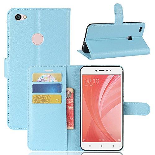 95Street Handyhülle für Xiaomi Redmi Note 5A Schutzhülle Book Case für Xiaomi Redmi Note 5A, Hülle Klapphülle Tasche im Retro Wallet Design mit Praktischer Aufstellfunktion - Etui Blau