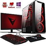 VIBOX Kaleidos SA4-102 Gaming PC Ordenador de sobremesa con Cupón de Juego, Windows 10 Pro OS, 22' HD Monitor (3,8GHz AMD A6 Dual-Core Procesador, Radeon R5 Gráficos Chip, 16GB DDR4 RAM, 1TB HDD)