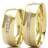 Trauringe 333/- Gelbgold Weißgold 66-700 - Honeymoon Selection