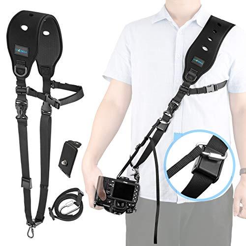 [Camera Strap Tracolla] Luxebell Tracolla Reflex/Cintura Camera Regolabile per Fotocamera Camera Reflex Digitale