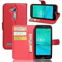 """Asus ZenFone GO ZB500KL 5"""" Cover - MYLB PU funda case cubierta cover para Asus ZenFone GO ZB500KL 5"""" smartphone (rojo)"""