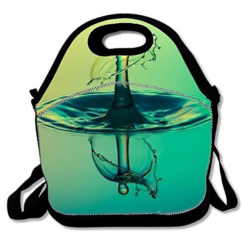 Waschbar Lunchbox Schöne Bloom Blooming Lunch-Boxen Wasserdicht für Jungen Size droplet liquid macro5 - Bloom Liquid