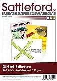 Sattleford Laserdrucker-Etikett: 400 Etiketten A6 105x148 mm für Laser/Inkjet (Aufkleber)
