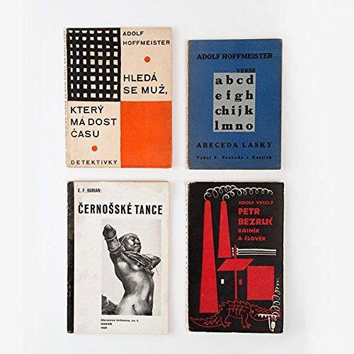 Sammlung von 8 Einbänden, gestaltet von Adolf Hoffmeister bzw. Karel Teige / Collection of 8 covers designed by A. Hoffmeister or K. Teige.