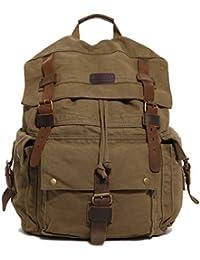 Koolertron Multi-Function Sac à dos sac de voyage sac de randonnée en toile vintage militaire Unisexe idéal pour Sony Canon Nikon Olympus DSLR ipad 2 ipad 3 mini ipad