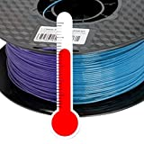 PLA 3D Drucker Filament 1,75mm Farbwechsel Temp. Lila zu Blau