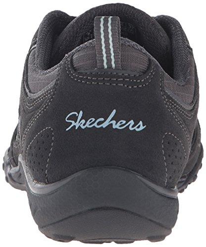 Skechers Breathe Easy Good Luck, Baskets Basses Femme Gris (Ccl)