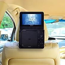 TFY - Soporte para reposacabezas de coche (para reproductor de DVD portátil no giratorio de 7'')