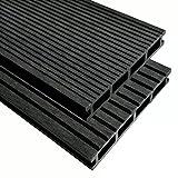 tuduo WPC Terrassendielen mit Zubehör 30m² 2,2m anthrazit Größe 2200x 150x 25mm (L x W x T)
