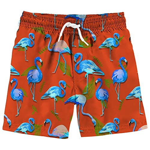 Vogseek Kinder Badeshorts Badehose Sommer Strandshorts 3D Buntes Blatt Gedruckt Druck Swim Trunks Slim Fit Atmungsaktive KüHle Beachwear