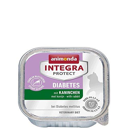 Animonda Integra Protect 86689, Diabetes Dieta Comida húmeda con conejo para gatos con diabetes