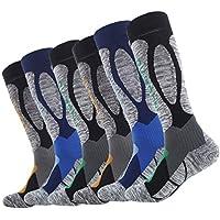 LIOOBO 3 Pares de Calcetines Deportivos de algodón Antideslizante y Transpirable Calcetines de algodón Medias para Escalada de Baloncesto Deportes al Aire Libre