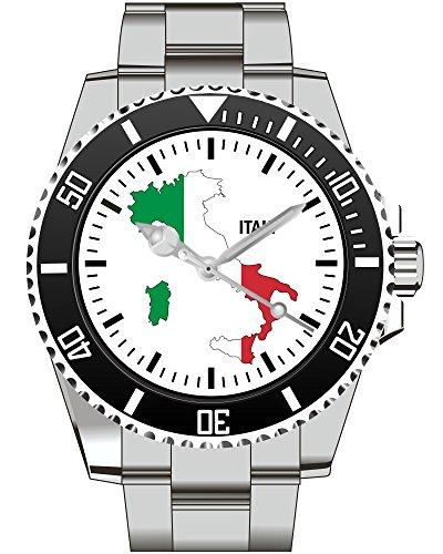 Italien Italy Italia Land Umriss Uhr - Armbanduhr 1097