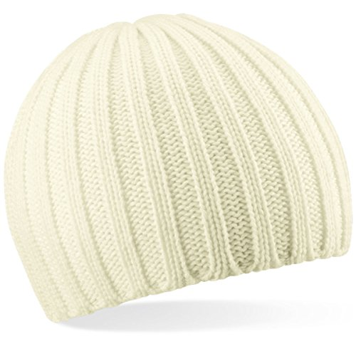 Beechfield Chunky Knit Beanie Baseball Cap