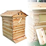 YiWon NEU Automatische Honig Bienen Hive Bienenstock Bienenhaus Beute Haus Bauernho/Updated Auto Honey Bee Hive Frames Cedarwood Super Beekeeping Brood House Box DE