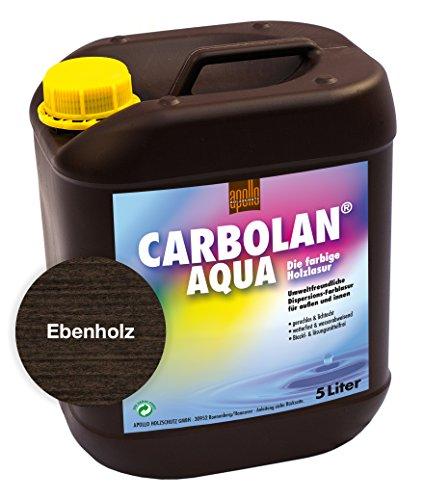 Carbolan Aqua Holzlasur, 5L (Ebenholz)