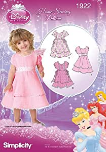 Simplicity 1922 Patron de robe de princesse Disney Tailles 6 mois 1/2/3/4 ans