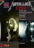 metallica 1983 1988 legendary guitar licks partitions pour tablature guitare symboles d accords