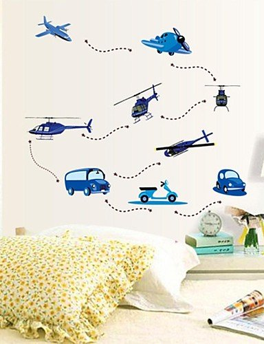 Stickers muraux Stickers muraux, stickers muraux Cartoon Planes Flying PVC