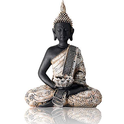 Buddha Statue Teelichthalter 31cm