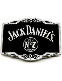 Jack Daniel`s Belt Buckle Old No.7 Brand Matt Grey Western Design In Collectors Edition Tin Officially Licensed Product