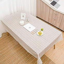 MOIKA Nappe de Table Rectangular Style Simple Impression à Carreaux Coloré Impermeable Fête Maison Restaurant Mariage Essentials Nappe Anniversaire(Gris,90 * 137)