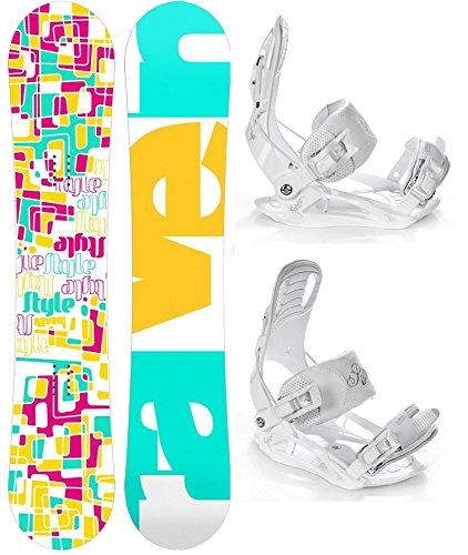 Snowboard Set: Snowboard Raven Style Rocker + Bindung Raven Luna M