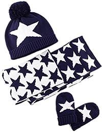 LifenewBaby - Set de bufanda, gorro y guantes - para niña