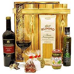 Geschenkset Verona Italien Geschenkkorb mit Holzkiste, Wein und italienischen Spezialitäten