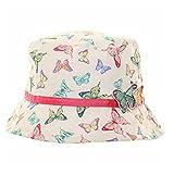 Pour filles 3D Arc-en-ciel Papillon Bucket Style Été Soleil Plage Chapeau - Multicolore, 3-5 ans - 53cm