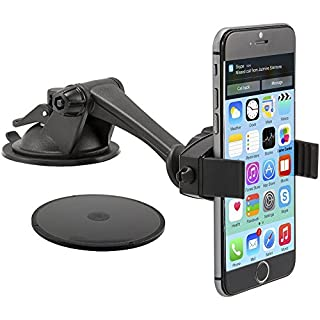Arkon MG279 Car Passive Holder Black Holder – Holders (Mobile Phone/Smartphone, Car, Passive Holder, Black, Iphone 6 Plus, 6, 5, 5s, 5 C, 4S, 4, 3 GS, iPod Touch, Samsung Galaxy Note 4, 3, 2, S5, S4, Google..., 360 °)