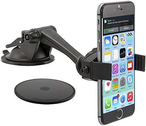 Base Ipod Touch (Arkon MG279 Smartphone-Halterung für PKW, schwarz, für iPhone 6 Plus, 6, 5, 5S, 5C, 4S, 4, 3GS, iPod Touch, Samsung Galaxy Note 4, 3, 2, S5, S4, Google etc.)