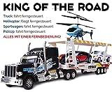 playZ 81132-FEC - King of The Road 4 in 1 Truck - Ferngesteuert mit Nur Einer Fernbedienung