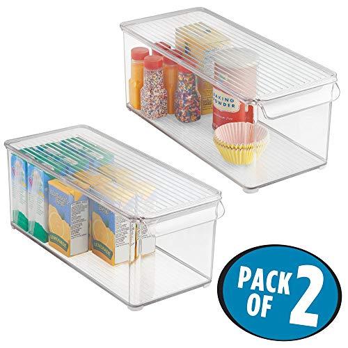 MDesign Juego 2 cajas organizadoras tapa – Cajón
