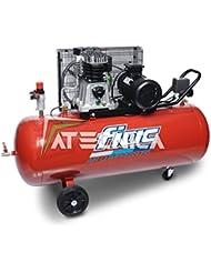 Compresor de aire 200LT Fiac AB 200–360T Transmisión a correa 2,2kW de potencia carrellato