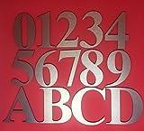 Goldeal porta numero civico in alluminio spazzolato 0–9a-d–oro–cifre numero civico piastra Plaque Sign for home–Qualità top, 3