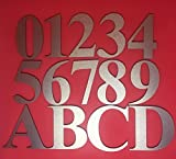 Goldeal aluminio casa puerta Número 0–9A a D–dorado cepillado–Placa de números dígitos placa señal para casa–Parte superior calidad, 1