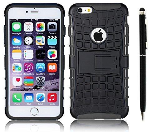 Deet® Apple iPhone 6/6S Heavy Duty stoßfest Schutzhülle in schwarz -