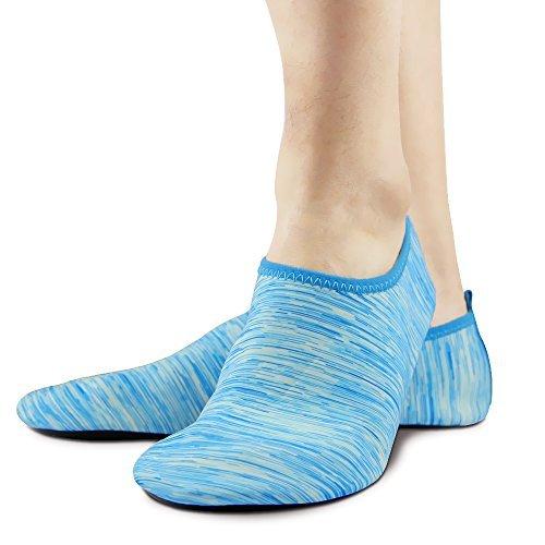 Unisex Barfuß Haut Schuhe Polyester Socken zum Yoga-Übung, Fitnessstudio,Draussen Gehen, Strand Wassersport (Barfuß-schuhe)