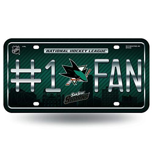 Unbekannt NHL # 1Fan Metall Tag License Plate, Team Logo -