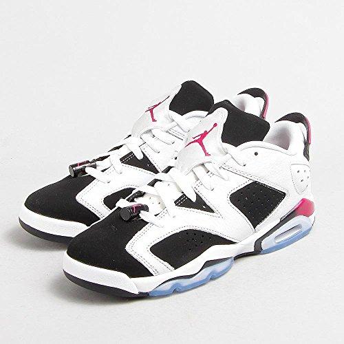 Nike Mädchen Air Jordan 6 Retro Low GG Laufschuhe, Weiß/Violett/Schwarz (Weiß/Sport Fuchsia-Schwarz), 36 1/2 EU (Mädchen Retro Jordan Schuhe)