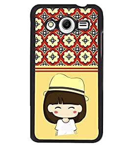 Fuson 2D Printed Girly Designer back case cover for Samsung Galaxy Core 2 - D4440